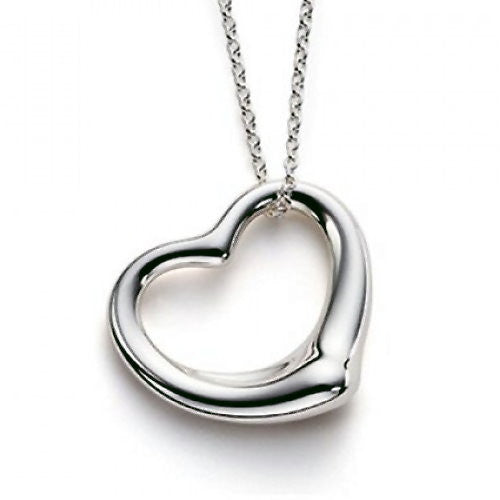 Designer Floating Heart Pendant with 16