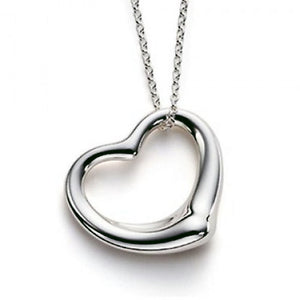 "Designer Floating Heart Pendant with 16"" Necklace - Shirin Diamonds"