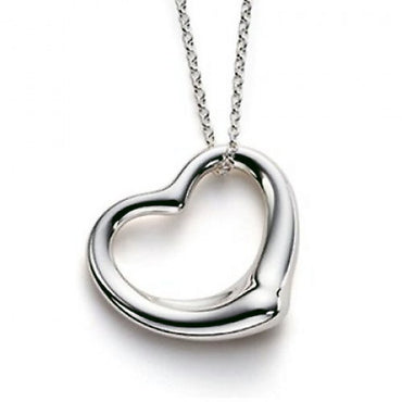 "Designer Floating Heart Pendant with 16"" Necklace - shirin-diamonds"