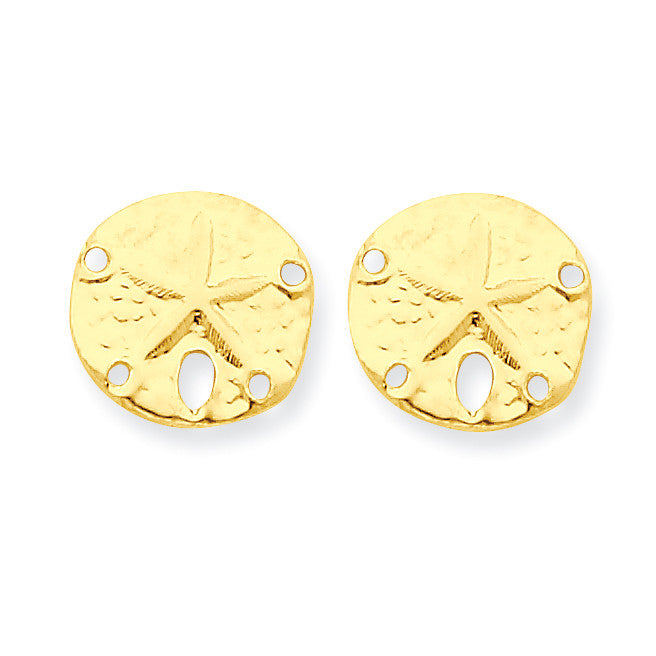 14k Madi K Sand Dollar Post Earrings SE2056 - shirin-diamonds