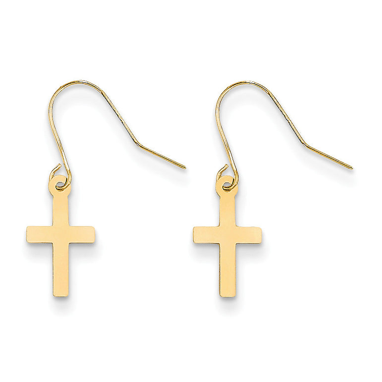 14k Madi K Cross Dangle Earrings SE2168 - shirin-diamonds