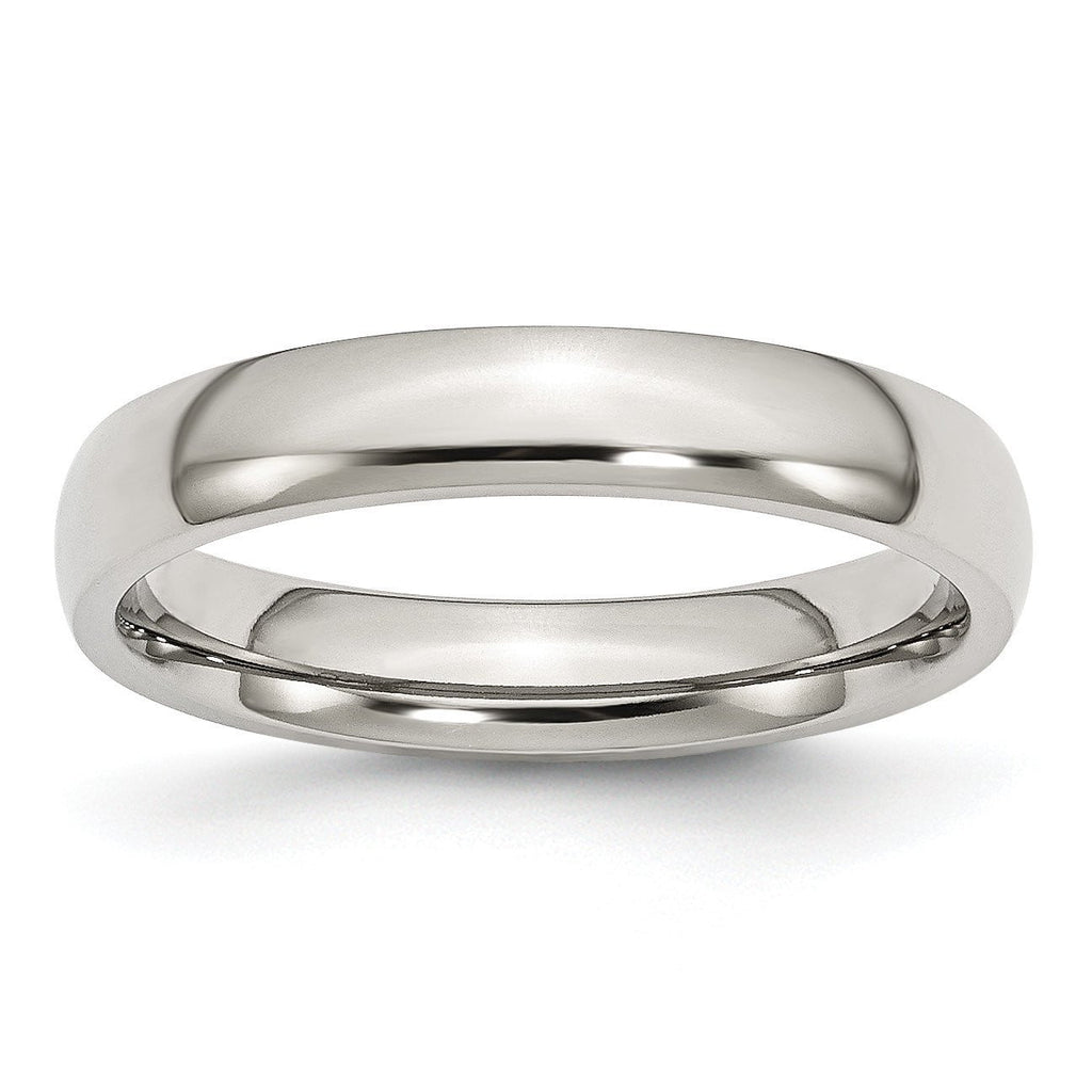 Stainless Steel 4mm Polished Band - shirin-diamonds