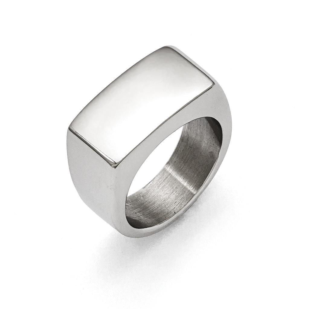 Stainless Steel Polished Ring - shirin-diamonds