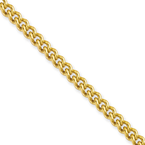 Stainless Steel IP Gold-plated 4.0mm 20in Round Curb Chain SRN686GP-20