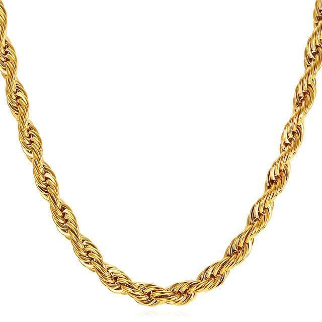 10K 2Mm Yellow Gold Hollow Diamond Cut Rope Chain 18