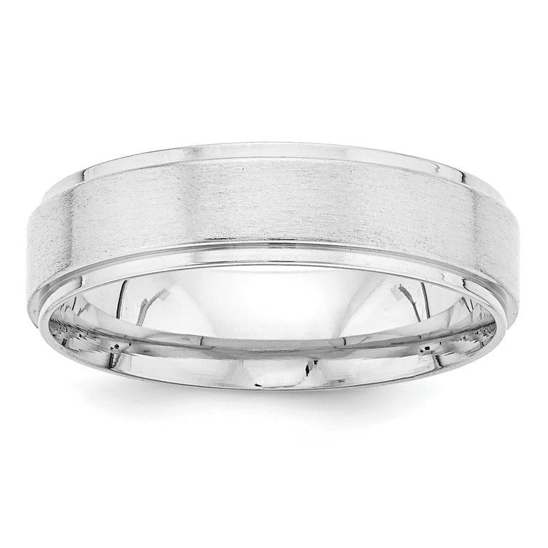 14k White Gold Standard Comfort Fit Fancy Band WB112S - shirin-diamonds