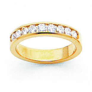 14k AA Diamond Channel Band X8532AA - shirin-diamonds