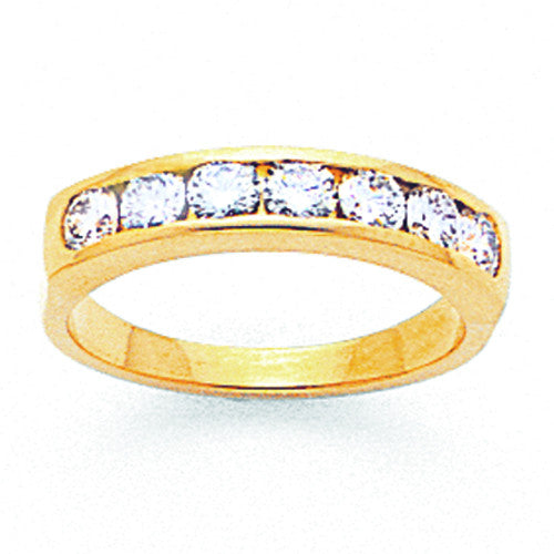 14k AA Diamond Channel Band X8580AA - shirin-diamonds