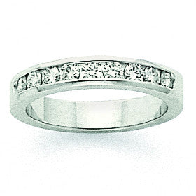 14k White Gold AA Diamond Channel Band X8894AA - shirin-diamonds