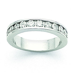 14k White Gold AA Diamond Channel Band X8904AA - shirin-diamonds