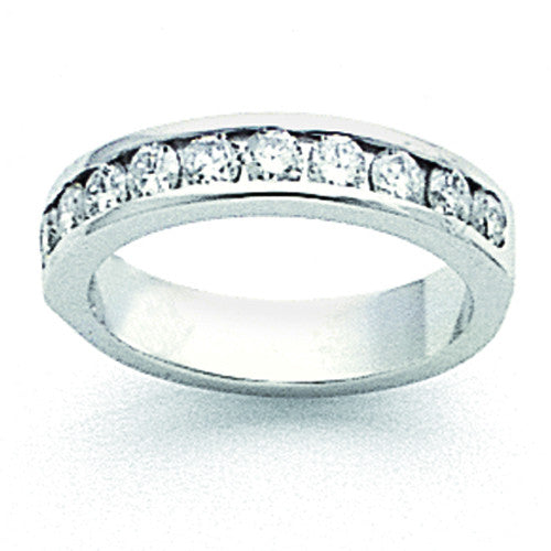 14k White Gold AA Diamond Channel Band X8927AA - shirin-diamonds