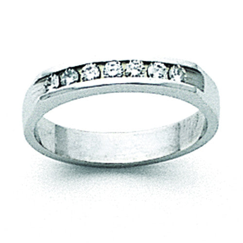 14k White Gold AA Diamond Channel Band X8953AA - shirin-diamonds