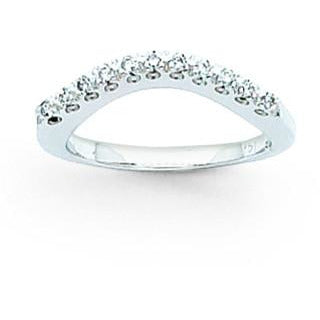 14k White Gold AA Diamond Band X9486AA - shirin-diamonds