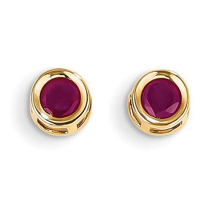14k Ruby Earrings - July