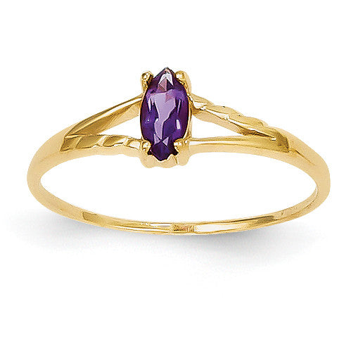 14k Amethyst Birthstone Ring XBR179 - shirin-diamonds