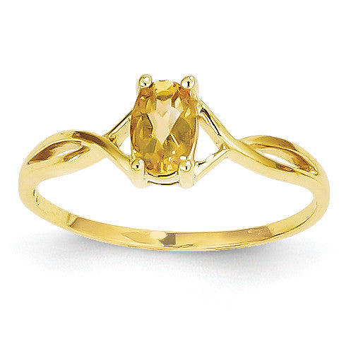 14k Citrine Birthstone Ring XBR236 - shirin-diamonds