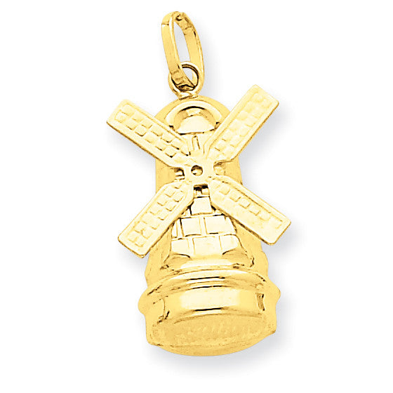 14k Windmill Charm XCH142 - shirin-diamonds