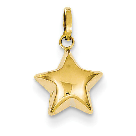 14k Puffed Star Charm XCH156 - shirin-diamonds