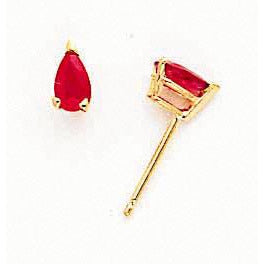 14k Ruby Ruby Earrings
