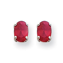 14k White Gold Ruby Earrings XE87WR-B - shirin-diamonds