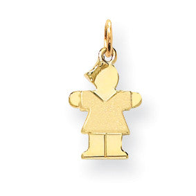 14k Mini Girl Charm XK836 - shirin-diamonds