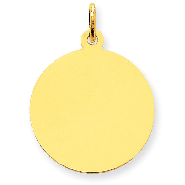 14k Plain .013 Gauge Circular Engravable Disc Charm XM137/13 - shirin-diamonds