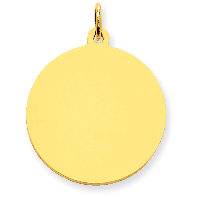 14k Plain .009 Gauge Circular Engravable Disc Charm XM138/09 - shirin-diamonds