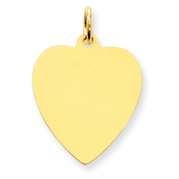 14k Plain .009 Gauge Engravable Heart Disc Charm XM196/09 - shirin-diamonds