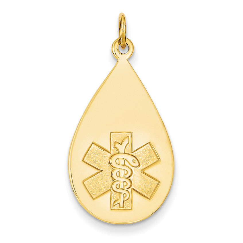 14k Medical Jewelry Unenameled Pendant XM405N