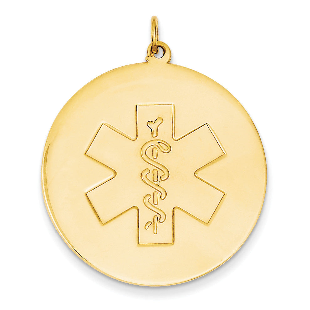 14k Medical Jewelry Unenameled Pendant XM411N