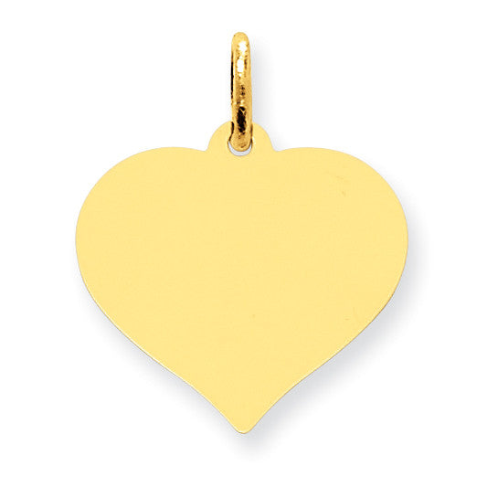 10K Heart Disc Charm 10XM528/18 - shirin-diamonds