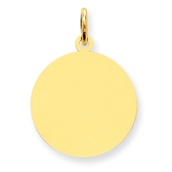 14K Round Disc Charm XM538/13 - shirin-diamonds