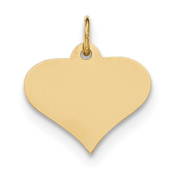 14k Plain .018 Gauge Engraveable Heart Disc Charm XM567/18 - shirin-diamonds