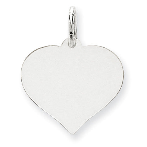 14K White Gold Heart Disc Charm XWM603/11 - shirin-diamonds