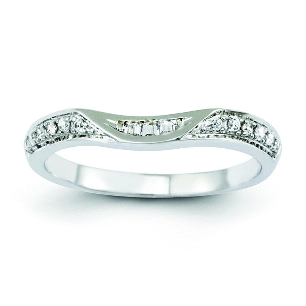 14K White Gold Diamond Band Y8265WAA - shirin-diamonds