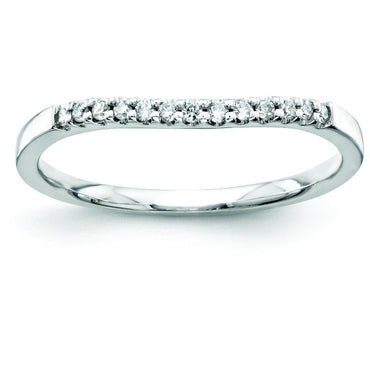 14k White Gold Diamond Bridal Band Y8688AA - shirin-diamonds