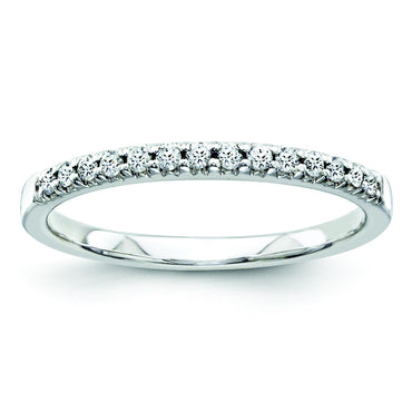 14k White Gold Diamond Bridal Band Y8695AA - shirin-diamonds