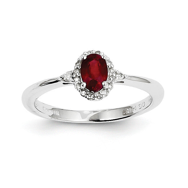 14k White Gold Ruby and Diamond Ring Y8940R/AA - shirin-diamonds