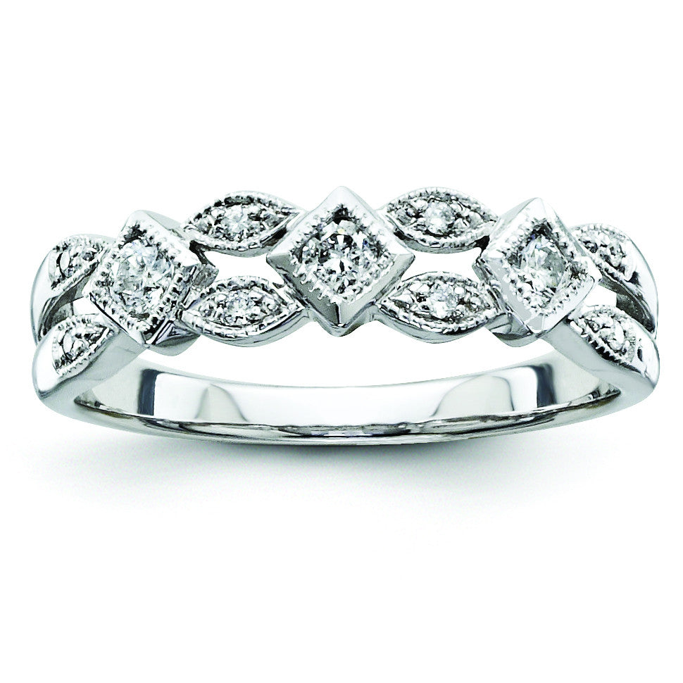 14k White Gold Diamond Ring Y9227AA - shirin-diamonds