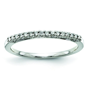 14k White Gold Diamond Bridal Band Y9268AA - shirin-diamonds
