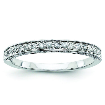 14k White Gold Diamond Bridal Band Y9278AA - shirin-diamonds