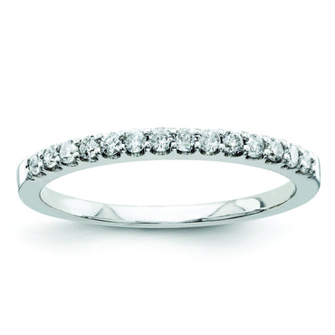 14k White Gold Diamond Bridal Band Y9294AA - shirin-diamonds