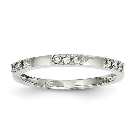 14k White Gold Diamond Ring Y9932AA - shirin-diamonds