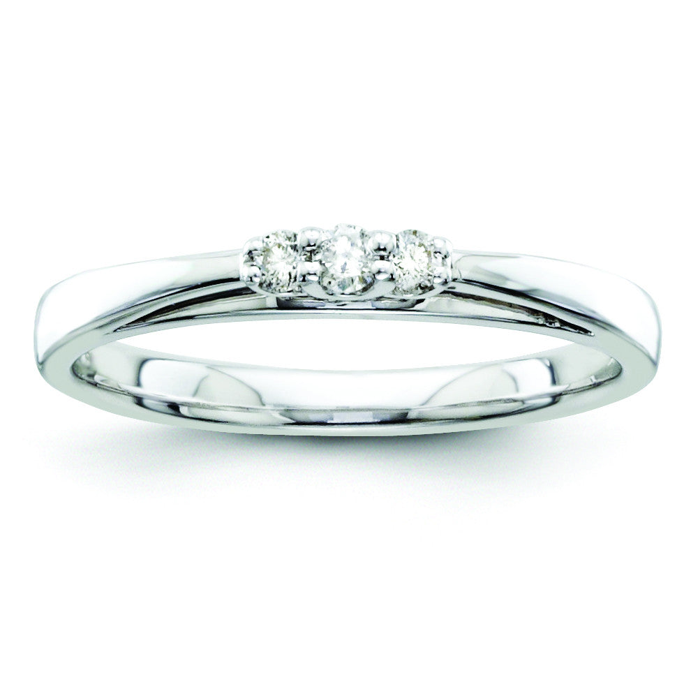 14k White Gold Diamond Wedding Band Y9938WAA - shirin-diamonds