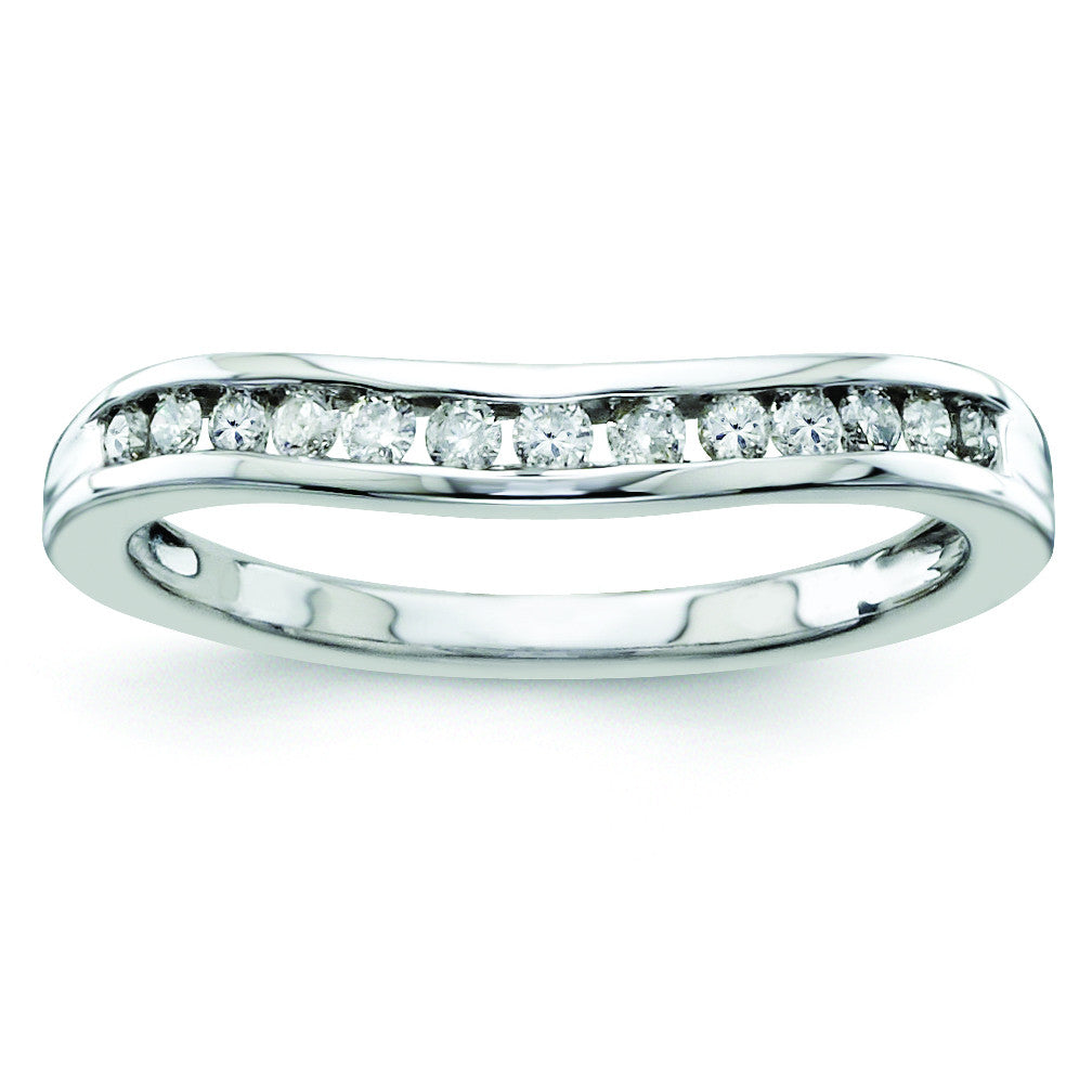 14k White Gold Diamond Wedding Band Y9954WAA - shirin-diamonds
