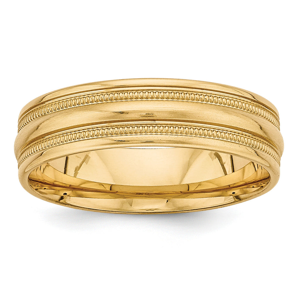 14k Yellow Gold Heavy Comfort Fit Fancy Band YB104H - shirin-diamonds