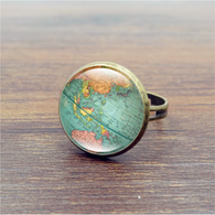 Vintage World Map Ring - Nomad Camel