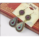 Travel shop usa | 19 Colors of Ethnic Drop Earrings - Nomad Camel