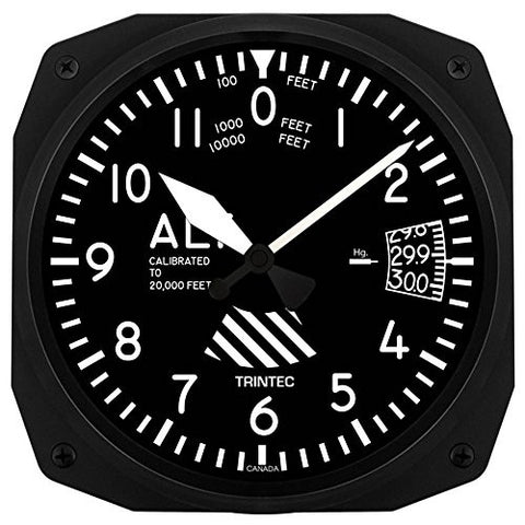"10"" Altimeter Style Wall Clock"