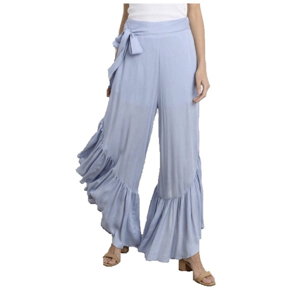 Ruffle Baby Blue Trousers